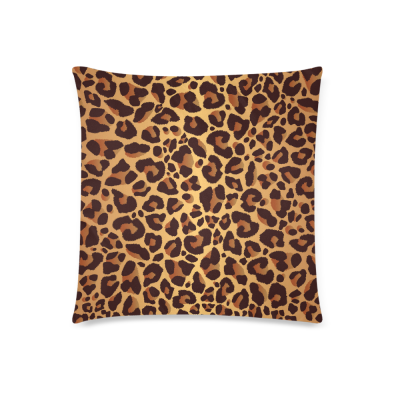 InterestPrint Brown Leopard Print Home Decor, Animal Skin Soft Pillowcase 18 x 18 Inches - Animal Theme Print Pillow Cover Case Shams Decorative