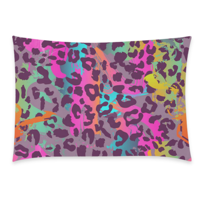InterestPrint Leopard Print Home Decor, Animal Skin Bright Soft Pillowcase 20 x 30 Inches - Animal Theme Print Colorful Pillow Cover Case Shams Decorative