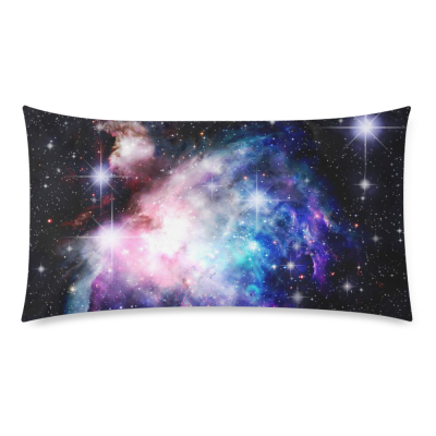InterestPrint Universe Space Nebula Galaxy Colorful Twinkling Stars Sky Pillowcase Standard Size 20 x 36 Inches for Couch Bed - Deep Space Nebula with Star Pillow Cases Cover Set Pet Shams Decorative