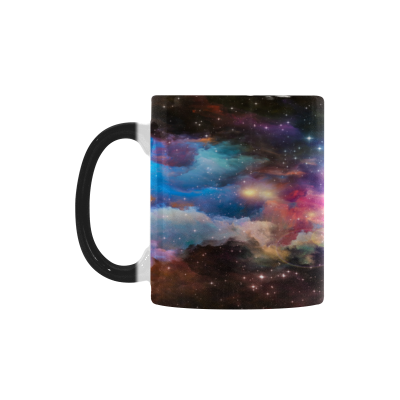 InterestPrint Multicolor Nebula Galaxy Glitter 11oz Heat Sensitive Color Changing Morphing Coffee Mug Tea Cup Travel, Funny Unique Birthday Gift for Men Women Him Her