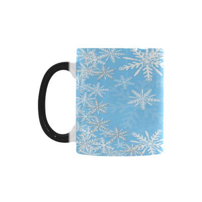 InterestPrint 11oz Christmas Winter Snowflake Morphing Mug Heat Sensitive Color Changing Coffee Mug Cup with Quotes, Unique Funny Birthday Christmas Gifts for Men Women Him Her Mom Dad