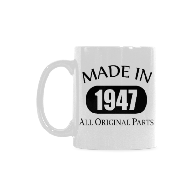 InterestPrint 70th Birthday Gift Made 1947 70th Birthday Party Decorations Gift Coffee Mug Tea Cup Classical White Mug(11 OZ)