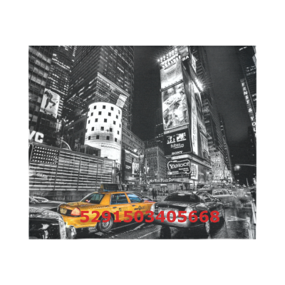 Black and White New York City Cotton Linen Wall Tapestry 60 x 51 ,Wall Hanging Tapestries, Bedspread Bedding Bed Cover, Ethnic Home