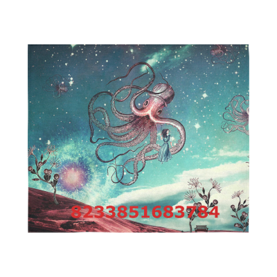 Octopus Cotton Linen Wall Tapestry 60 x 51 ,Wall Hanging Tapestries, Bedspread Bedding Bed Cover, Ethnic Home Decor
