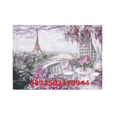 InterestPrint Sweet Home Modern Collection Custom summer cafe in Paris Area Rug 5'3''x4' Indoor Soft Carpet