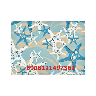 InterestPrint Sweet Home Modern Collection Custom Starfish Area Rug 5'x3'3'' Indoor Soft Carpet