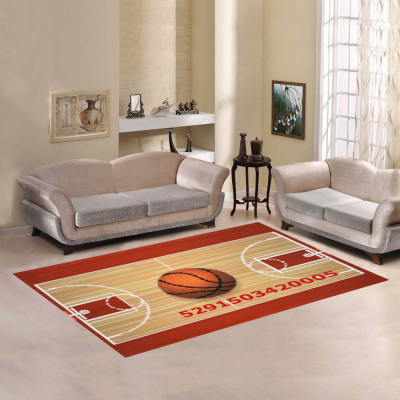 InterestPrint Sweet Home Modern Collection Custom Basketball Area Rug 7'x5' Indoor Soft Carpet