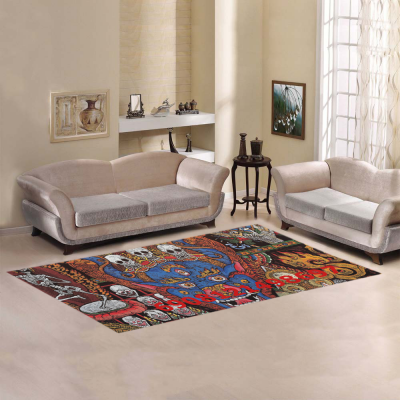 InterestPrint Sweet Home Modern Collection Custom Mandala Area Rug 7'x 3'3  Indoor Soft Carpet