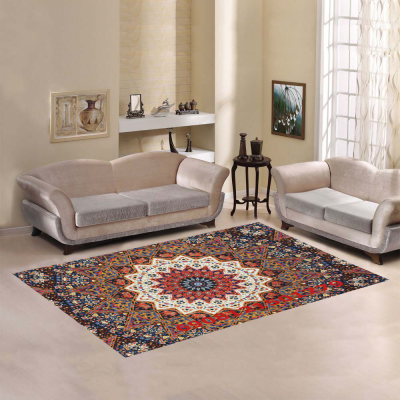 InterestPrint Sweet Home Modern Collection Custom Mandala Area Rug 7'x5' Indoor Soft Carpet