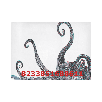 InterestPrint Sweet Home Modern Collection Custom Octopus Indoor Soft Carpet Area Rug 7' x 5'