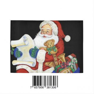 InterestPrint Sweet Home Stores Collection Custom Christmas Santa Indoor Soft Carpet Area Rug 7' x 5'
