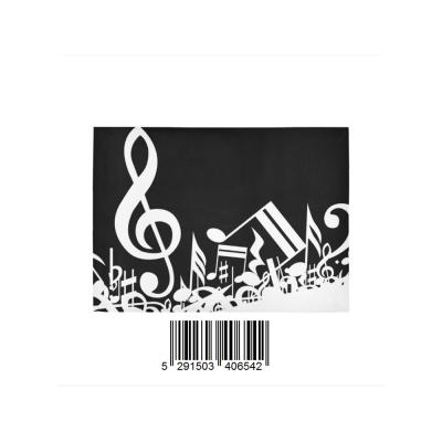 InterestPrint Sweet Home Modern Collection Custom Black and White Music Note Indoor Soft Carpet Area Rug 7' x 5'