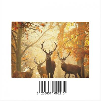InterestPrint Sweet Home Modern Collection Custom Mule Deer Bucks in Autumn Forest Indoor Soft Carpe Area Rug 7' x 5'