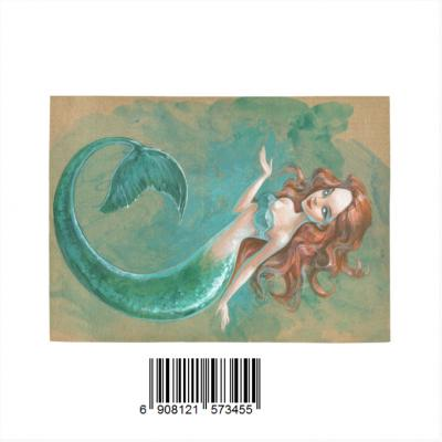 InterestPrint Sweet Home Modern Collection Custom Mermaid Indoor Soft Carpet Area Rug 7' x 5'