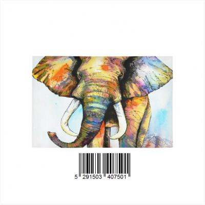 InterestPrint Sweet Home Modern Collection Custom Elephant painting Indoor Soft Carpet Area Rug 5'x3'3