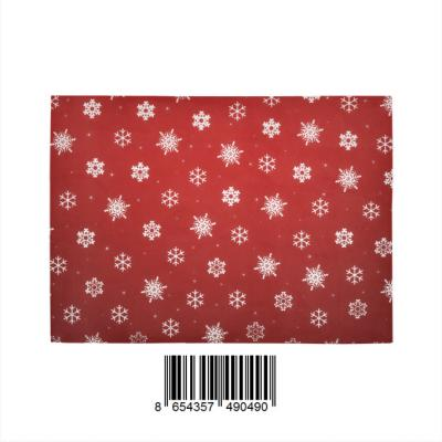 InterestPrint Sweet Home Stores Collection Custom Red snowflake xmas Indoor Soft Carpet Area Rug 7' x 5'