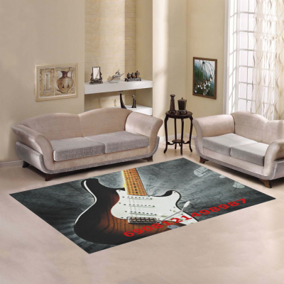 InterestPrint Sweet Home Modern Collection Custom Guitar Area Rug 7'x3'3  Indoor Soft Carpet