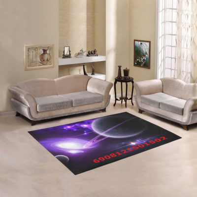 InterestPrint Sweet Home Modern Collection Custom Outer space stars galaxies purple Area Rug 7'x5' Indoor Soft Carpet