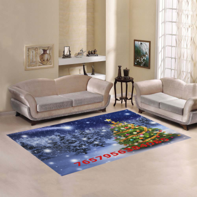 InterestPrint Sweet Home Stores Collection Custom Christmas Tree Area Rug 2'7 x 1'8  Indoor Soft Carpet