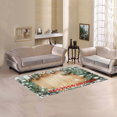 InterestPrint Sweet Home Stores Collection Custom Christmas Tree Area Rug 7'x5' Indoor Soft Carpet