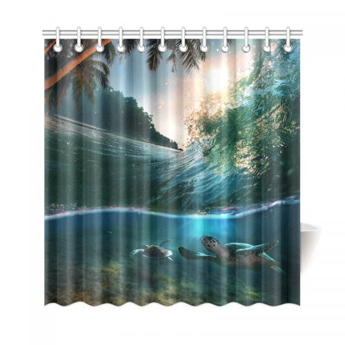InterestPrint Deep Ocean Tropical Palm Tree Home Decor, Underwater ...