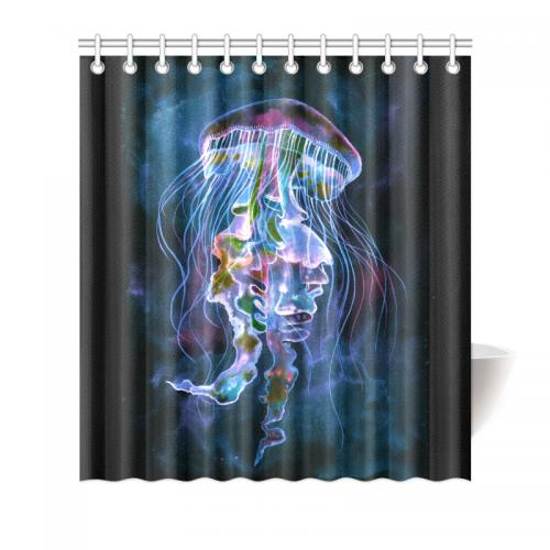 InterestPrint Home Bathroom Decor Watercolor Jellyfish Underwater ...