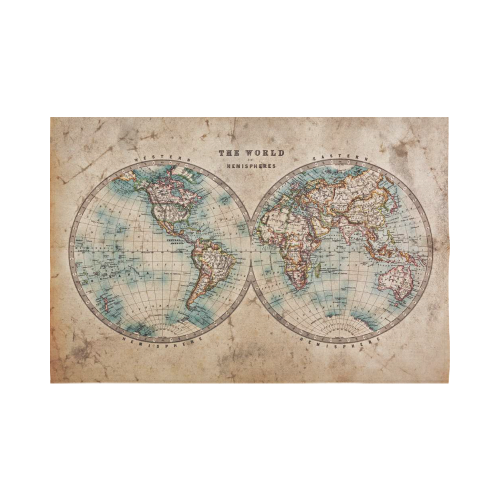 Interestprint global map wall art home decor vintage retro style interestprint global map wall art home decor vintage retro style old world map from 1800s for geography and history print cotton linen tapestry wall gumiabroncs Choice Image