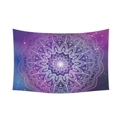 . US  34 99 InterestPrint Tribal Hippie Buddhist Henna Purple Mandala  Tapestry Wall Hanging Blacklight Trippy Bohemian Boho Batik Wall Decor Art  Cotton