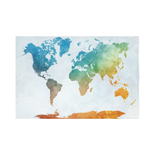 Interestprint colorful watercolor world map tapestry wall hanging interestprint colorful watercolor world map tapestry wall hanging abstract art splatter painting wall decor art for living room bedroom dorm cotton linen gumiabroncs Gallery