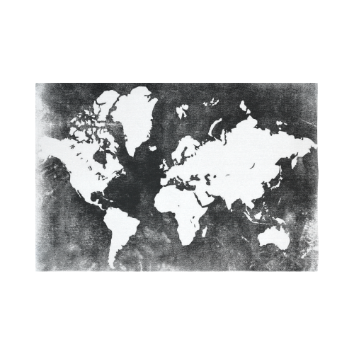 black and white earth world map tapestry wall hanging global map wall decor art for living room bedroom dorm cotton linen decoration item