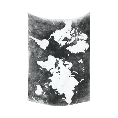 Interestprint black and white earth world map tapestry wall hanging interestprint black and white earth world map tapestry wall hanging global map wall decor art for living room bedroom dorm cotton linen decoration item gumiabroncs Gallery
