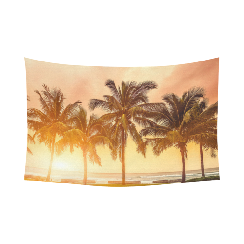 US$ 37.99 Interestprint Tropical Coconut Palm Tree Beach Sea Ocean Hawaii Scenic Tapestry Wall Hanging Sunset Sky Wall Decor Art for Living Room ...