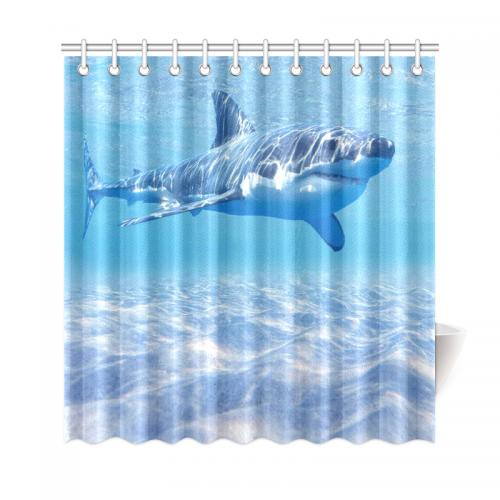 InterestPrint Underwater World Home Decor, Sea Ocean Shark Polyester ...