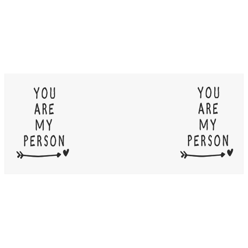 US$ 18.99 InterestPrint You Are My Person Quotes White Ceramic Heart-shaped  Travel Water Coffee Mug Tea Cup, Funny Unique Birthday Gift for Men Women  ...