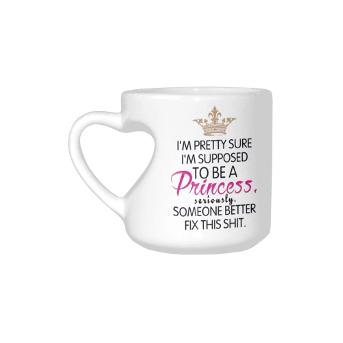 US$ 18.99 InterestPrint Fashion Pretty Princess Quotes White Ceramic  Heart-shaped Travel Water Coffee Mug Tea Cup Pink, Funny Birthday Gift for  Men ...