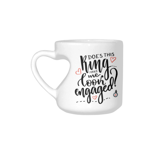 Make Me Look Engaged Cup Heart Shaped Travel Coffee Mug With Sayings Best Friends Friendship Mom Funny Unique Birthday Thanksgiving Engagement Gifts