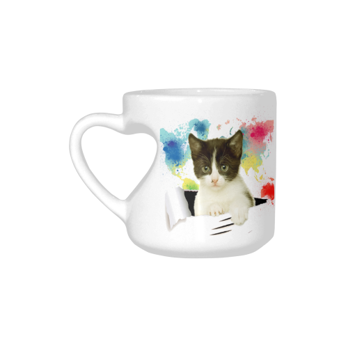 Interestprint heart shaped coffee travel mug cup lovely cat kitten interestprint heart shaped coffee travel mug cup lovely cat kitten out of colorful world map ceramic mug unique valentines day gifts for men women him her gumiabroncs Image collections