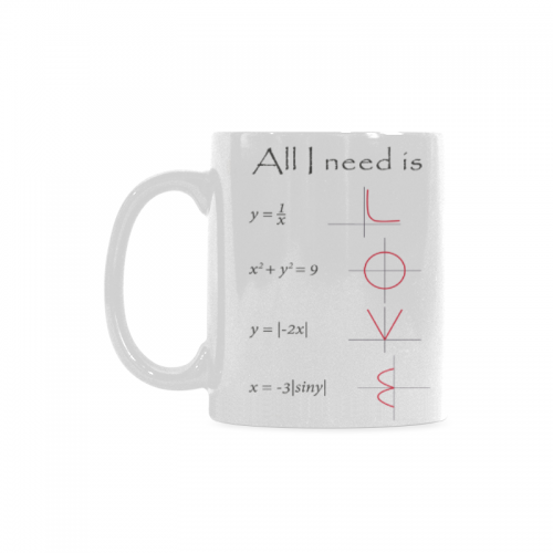 3059f7f0db1 InterestPrint 11 Ounce White Ceramic Math Engineer Mug All You I Need is  Love Funny Travel Coffee Mug Cup with Quotes Sayings, Unique Christmas  Birthday ...