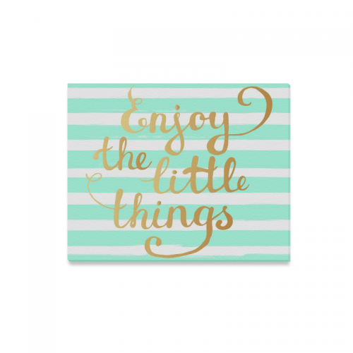 US$ 24.99 InterestPrint Inspirational Quotes Enjoy The Little Things Canvas  Wall Art Print Painting Wall Hanging Artwork for Home Decoration