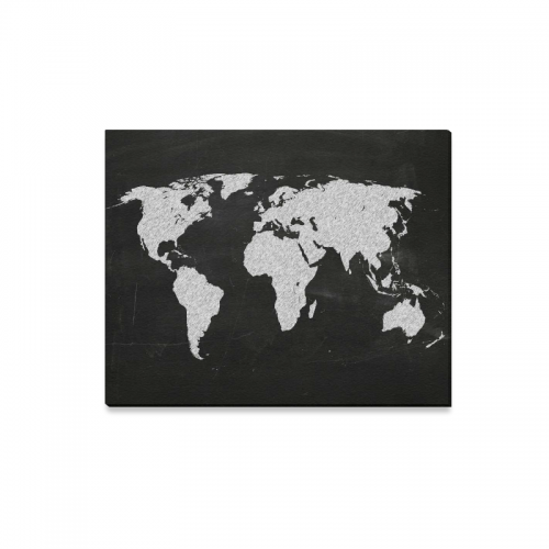 Interestprint world map black and white canvas wall art print interestprint world map black and white canvas wall art print painting material design map wall hanging artwork for home decoration gumiabroncs Image collections