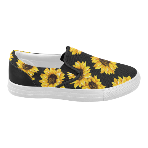 bec1d3ee4a8f InterestPrint Sunflower Casual Slip-on Canvas Women s Fashion Sneakers Shoes  Item Code   D173217