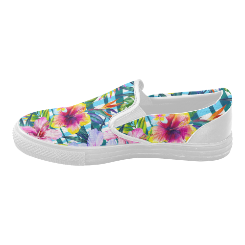 5bfd8469ca4ad7 InterestPrint Hawaiian Floral Casual Slip-on Canvas Women s Fashion Sneakers  Shoes