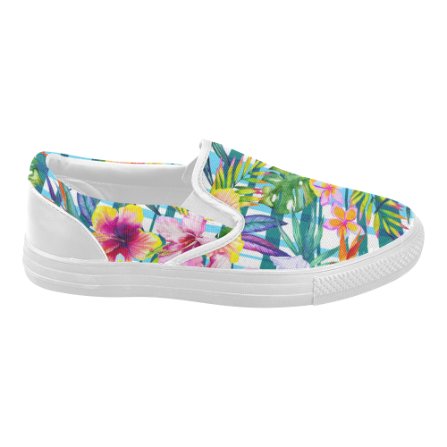 d0c054762756cd InterestPrint Hawaiian Floral Casual Slip-on Canvas Women s Fashion Sneakers  Shoes Item Code   D175632