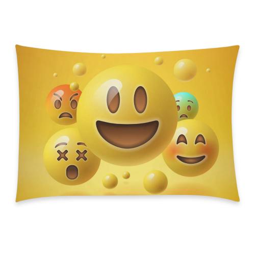 US$ 20 95 InterestPrint Custom Cute Yellow Smiley Emoji Emoticon Face  Pillowcase Standard Size 20 x 30 Inches One Side - Yellow Smiley Emoticon  Emojis