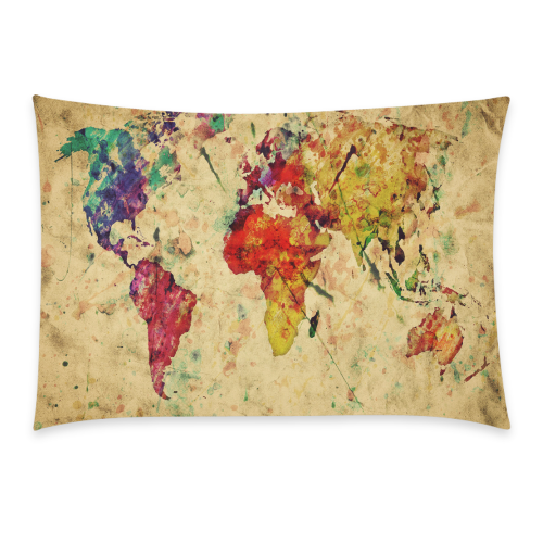 Interestprint Watercolor Vintage World Map Home Decor Retro World