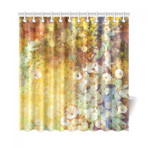 InterestPrint Floral Shower Curtain Leaves Decor, Watercolor ...