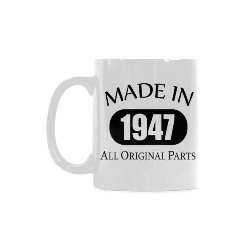 InterestPrint 70th Birthday Gift Made 1947 Party Decorations Coffee Mug Tea Cup Classical White Mug11 OZ