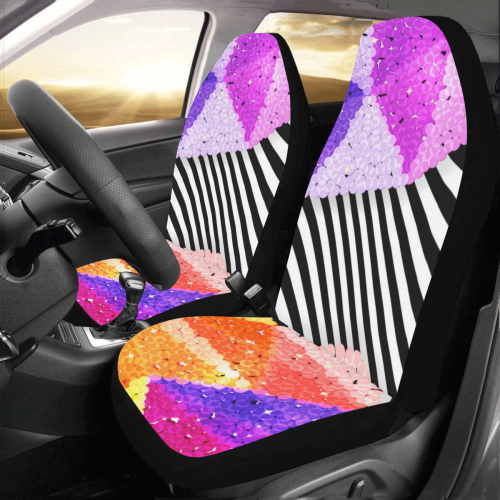 Stupendous Us 59 99 Glitter Sequin Multi Car Seat Covers Set Of 2 Uwap Interior Chair Design Uwaporg