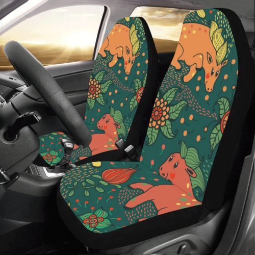 Colorful Seamless Pattern With Flowers And Pretty Car Seat Covers